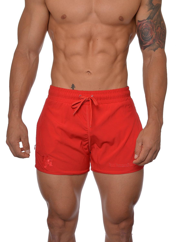 YoungLA Men's Bodybuilding Lift Shorts W/Zipper Pockets