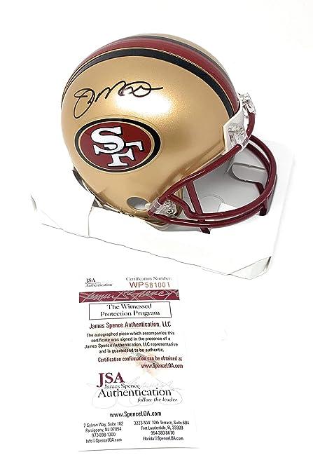 49738bbb7 Joe Montana San Francisco 49ers Signed Autograph Throwback Mini Helmet JSA  Witnessed Certified
