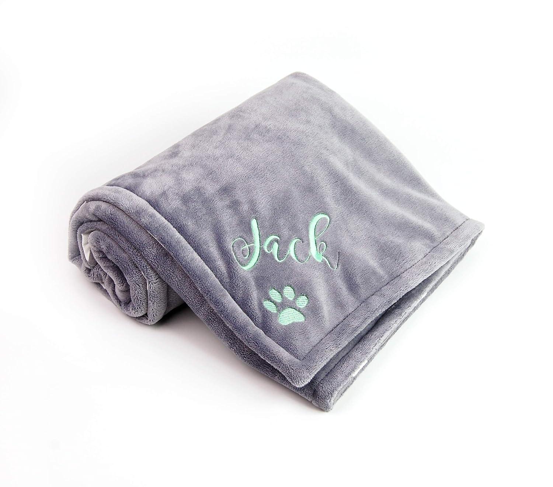 Dog Gift Bone Appliqu\u00e9Embroidery Personalized Pet Comfort Blanket