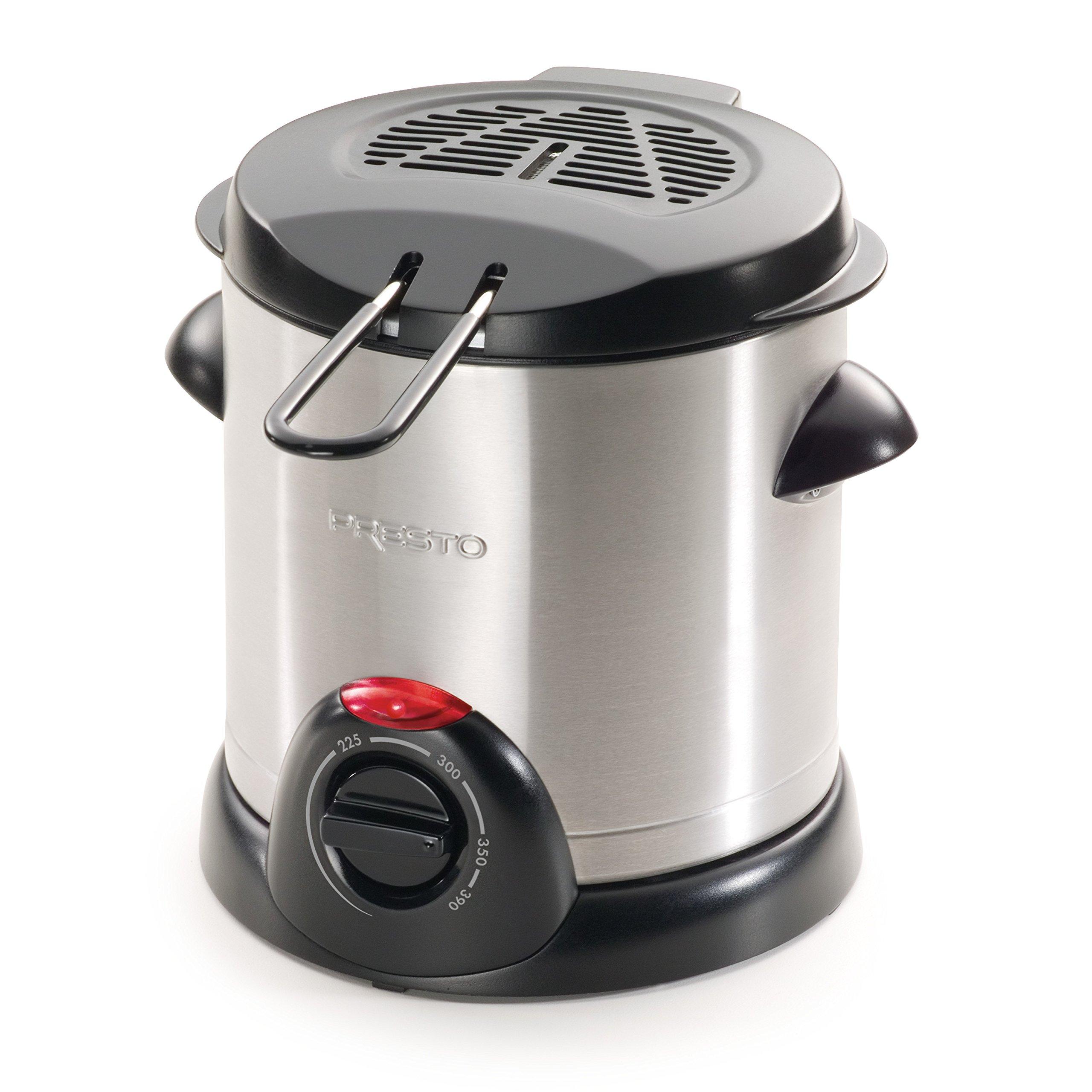 Presto 05470 Stainless Steel Electric Deep Fryer, Silver by Presto
