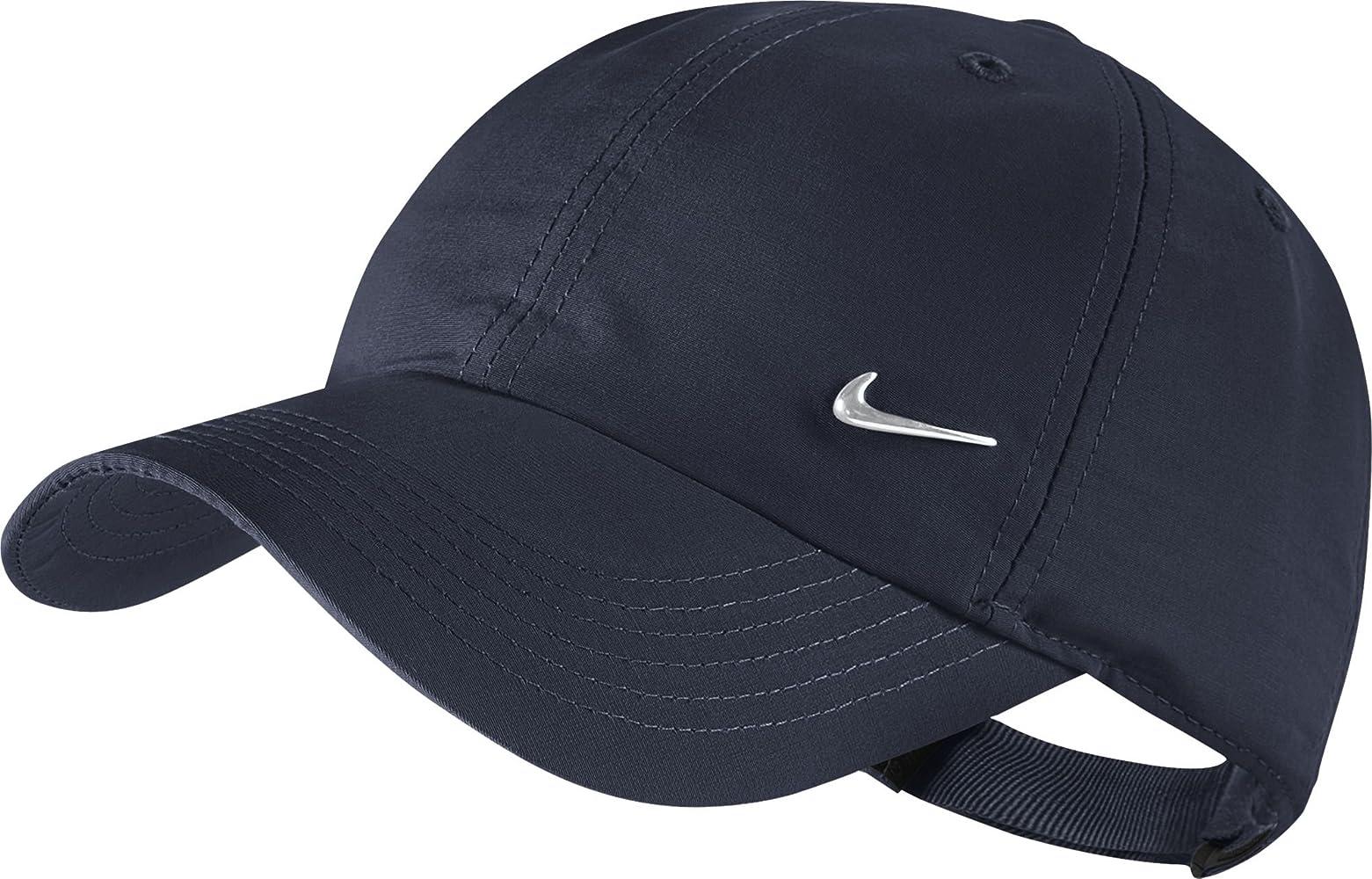 b3cf78ba Nike Kid's Metal Swoosh Heritage 86 Cap, Blue (Obsidian/Metallic Silver),