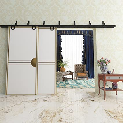 Amazon.com: Vancleef 4-20FT Byp Door Kit Sliding Barn Door ... on