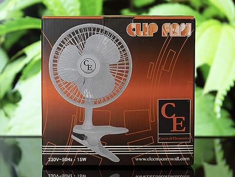 Luglez Ventilador De Pinza para Cultivo 15 cm/15W (2 Velocidades ...