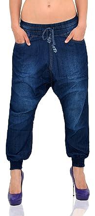 ce84dc447f6 by-tex Jean pour Femme Pantalon Chino Aladin pour Femme Jean Boyfriend Femmes  Jean Baggy Femmes Pantalon Sarouel Z160  Amazon.fr  Vêtements et accessoires