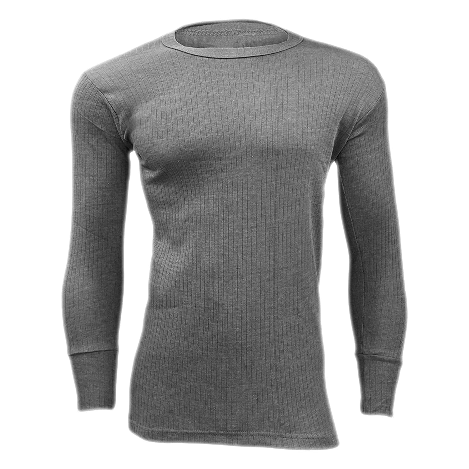 3 Pack Charcoal Thermal Long Sleeve Top Underwear Men's Base Layer Winter Work Outdoor