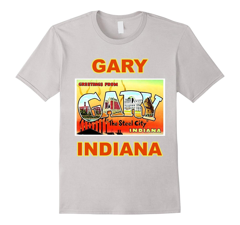 Lotta Shirts: Gary Indiana Postcard Greetings T-Shirt-T-Shirt