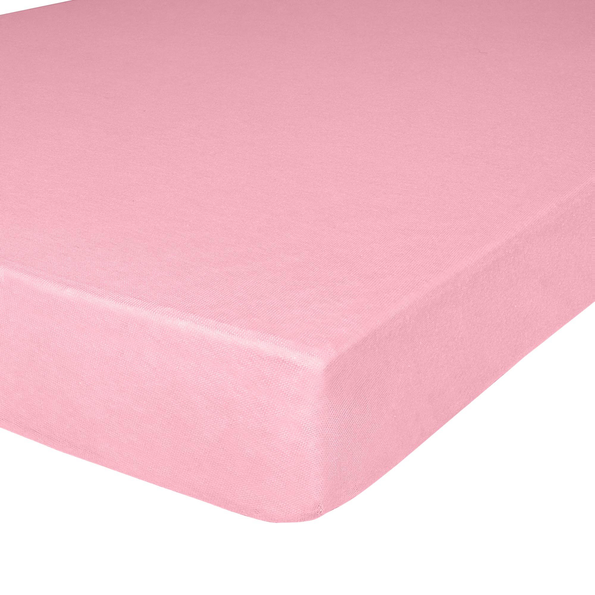 IDEAhome Jersey Knit Twin Size Fitted Bottom Sheet, 39'' X 75'' with 14'' Deep Pocket, Ideal for Twin Bed Mattress, Hypoallergenic, Pink, Pack of 1