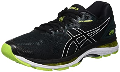 ASICS Mens Gel-Nimbus 20, Black/NEON Lime, 8.5 D(M