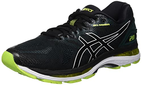 54310b234ea Asics Men's Gel-Nimbus 20 Competition Running Shoes, Black (Black/Neon Lime