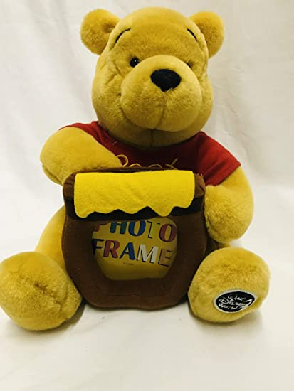 Amazoncom 12 Winnie The Pooh Stuffed Animal Photo Frame Plush