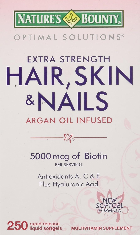Amazon.com: Nature\'s Bounty Hair Skin and Nails 5000 mcg of Biotin ...