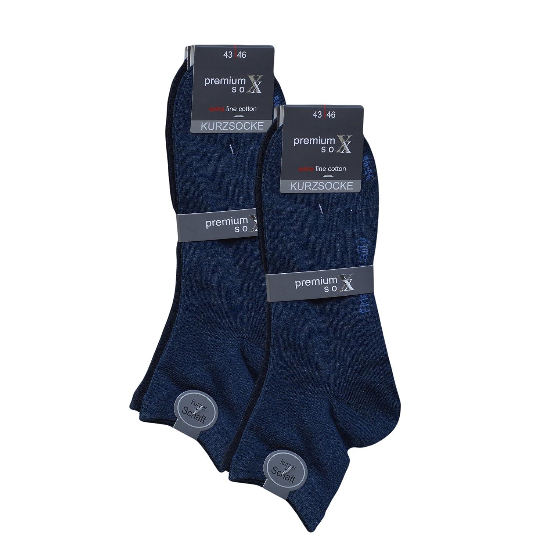 3 Paar Herren Kurzschaftsocken  Kurzsocken mit Komfortbund Schwarz Blau