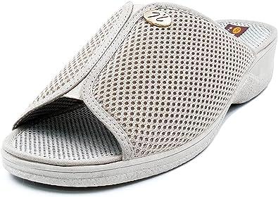 zapatillas de casa mujer abiertas con cuña