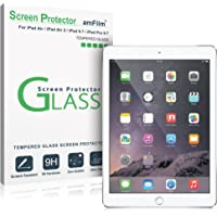"amFilm iPad 9.7 Screen Protector Tempered Glass for Apple iPad 9.7"" (2018, 2017)/iPad Pro 9.7 Inch/iPad Air/iPad Air 2, New iPad 5th, 6th Gen, Apple Pencil Compatible"