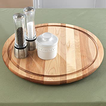 snow river 7v03387 19inch lazy susan with groove