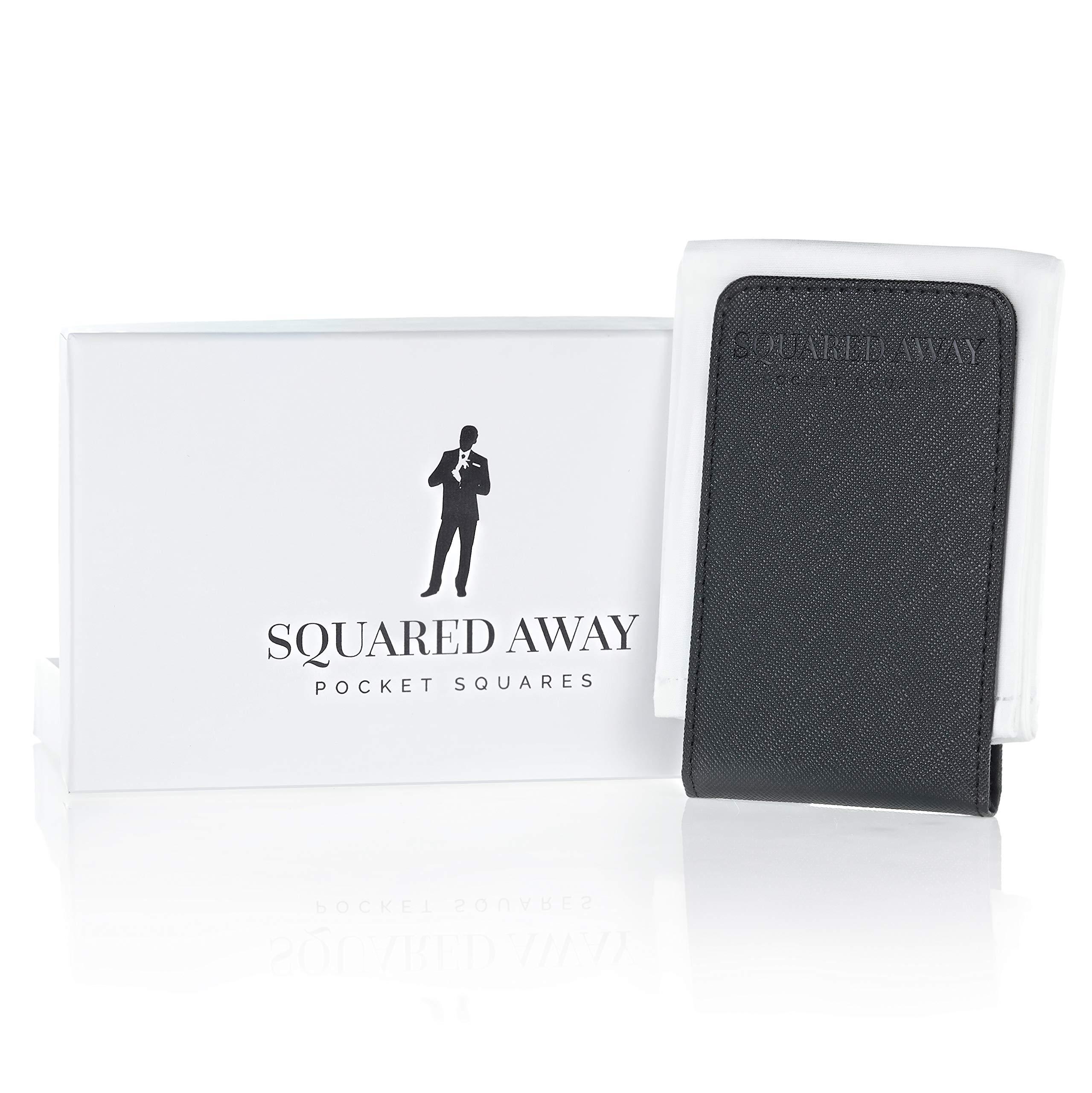 Squared Away: Pocket Square Movement - Pocket Square & Pocket Square Holder - Innovative Sleeve Design (White)