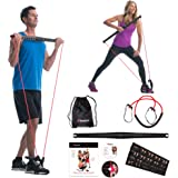Bodygym Core System Portable Home Gym - Resistance Trainer All-in-One Band + Bar Kit, Full Body Workout: Improve Fitness, Bui