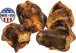 Pawstruck Knee Cap Bones Dogs | Made in USA & Natural | Long Lasting Meaty Chews Made American Cattle | Single Ingredient Meat Treat, No Artificial Flavors | Supports Dental Health