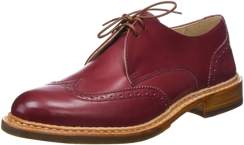 Neosens Restored Skin, Zapatos de Cordones Derby para Mujer 36 EU|Rojo (Amarante Amarante)