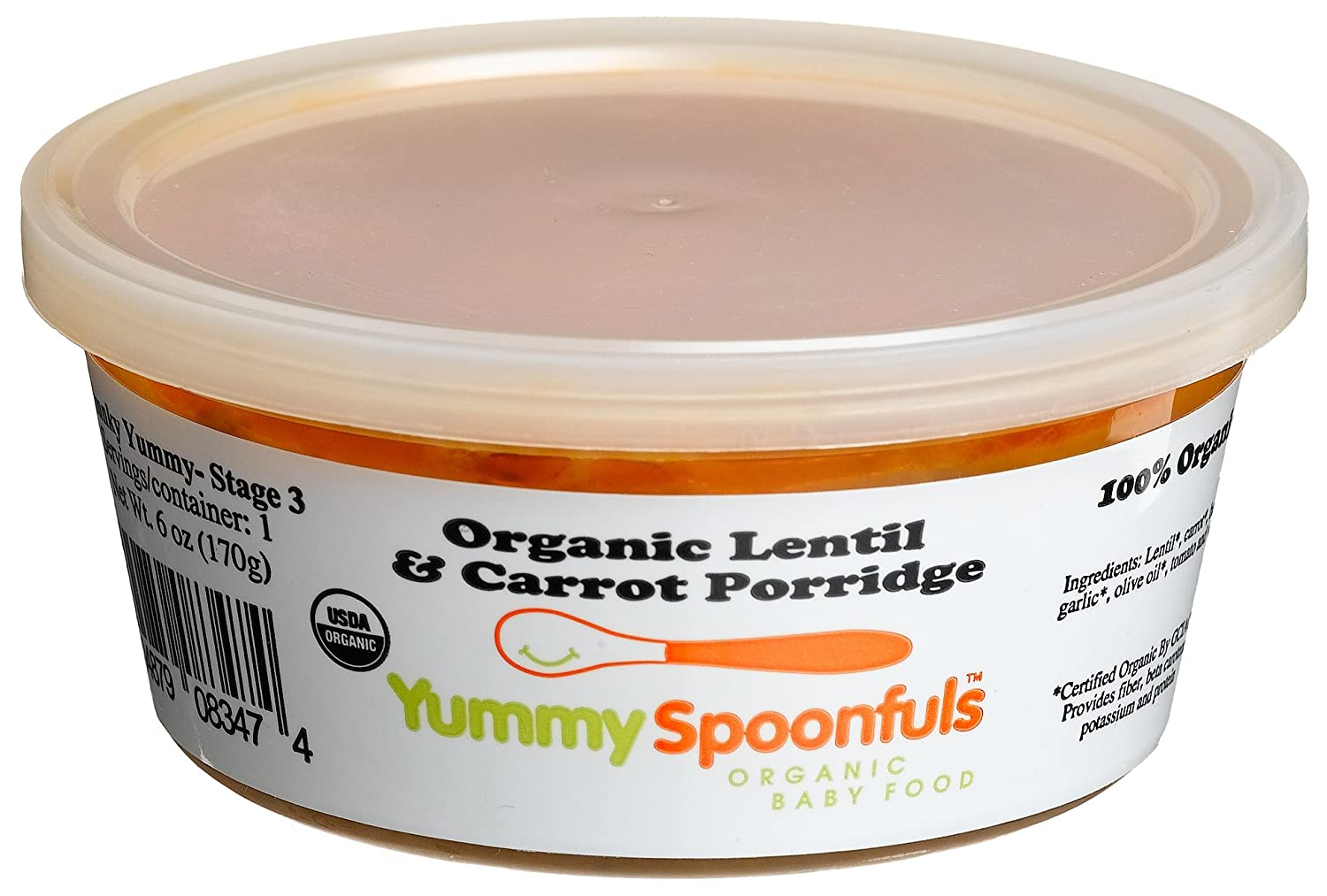 Amazon.com : Yummy Spoonfuls Chunky Yummy Organic Sweet Potato & Adzuki Bea, 6-Ounce Tubs (Pack of 12) : Baby Food Vegetables : Grocery & Gourmet Food