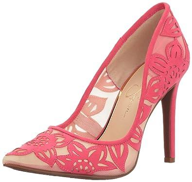e8d1bb989a0 Jessica Simpson Women s CHARESE Pump Sunset Pink 5.5 Medium US