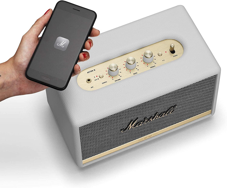 Marshall acton II - Alta voz Bluetooth, Color Blanco, EU: Amazon ...