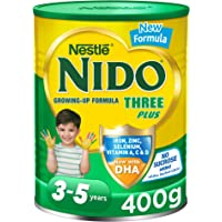 Nestle NIDO Three Plus Growing Up Milk Powder Tin For Toddlers 3-5 Years, 400g, Pack of 1