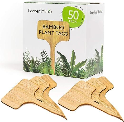50 Pack Etiquetas de Plantas, Marcadores para Plantas, Bambú Natural - Ecológico y Biodegradable - para Jardín Hierbas Semillas Flores Vegetales - Herramientas de Jardinería y Accesorios.: Amazon.es: Jardín