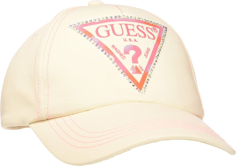 Guess Logo Baseball Cap Gorra de béisbol, Beige, Uni para Mujer ...