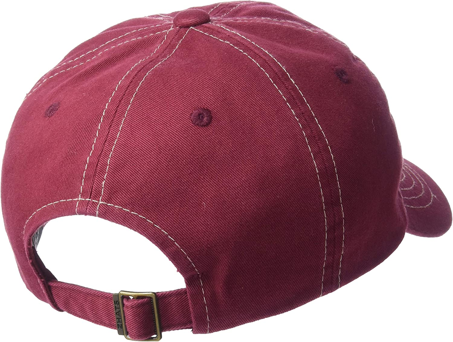 Adjustable NCAA Zephyr Washington State Cougars Mens Solo Washed Cotton Relaxed Hat Primary Team Color