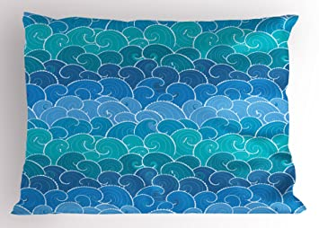 Chocolate and Turquoise Standard//Queen 2 Piece Reversible Pillow Case Shams