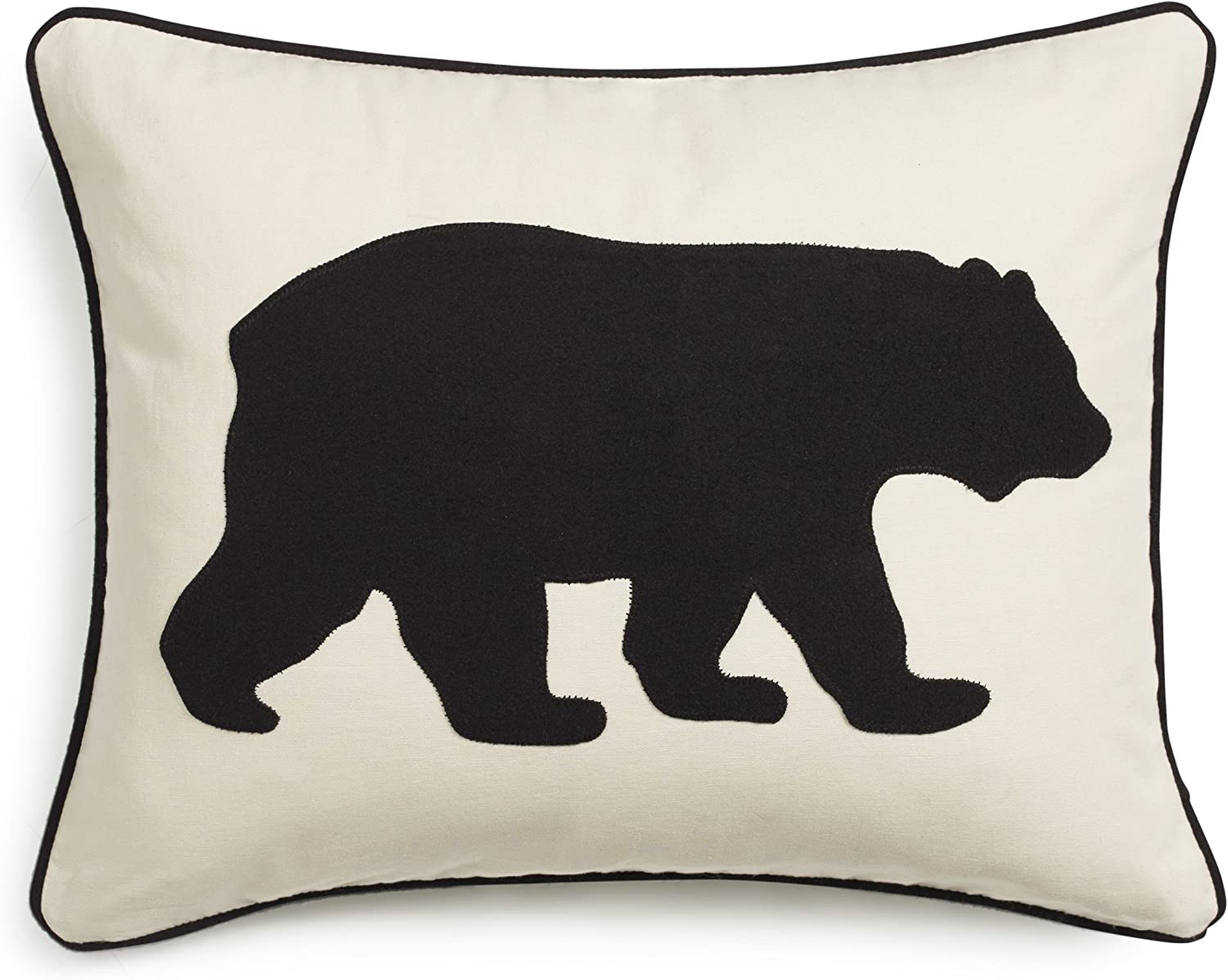Eddie Bauer Bear Twill Decorative Pillow, Black