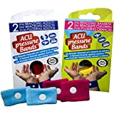ACUpressure Bands Acupressure Travel Bands - Natural Remedy for Travel Sickness_ Children Size Pack of 1 (Assorted Colours)