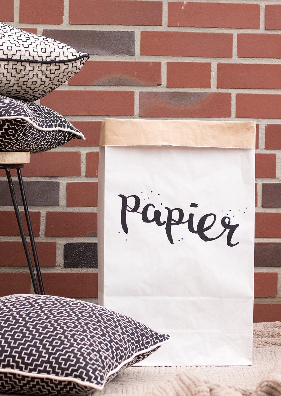 carta e plastica Papier // Plastik rettangolari in carta Kraft 2 confezioni di sacchi di carta per pattumiera