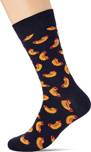 Happy Socks Hotdog Sock Calcetines, Multicolor (Multicolour 650), 7/10 (Talla del fabricante: 41-46) para Hombre: Amazon.es: Ropa y accesorios