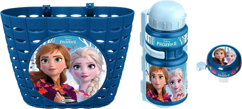 Stamp Sas Combo Frozen II (Basket + Drinking Bottle + Bell), Girls, Blue