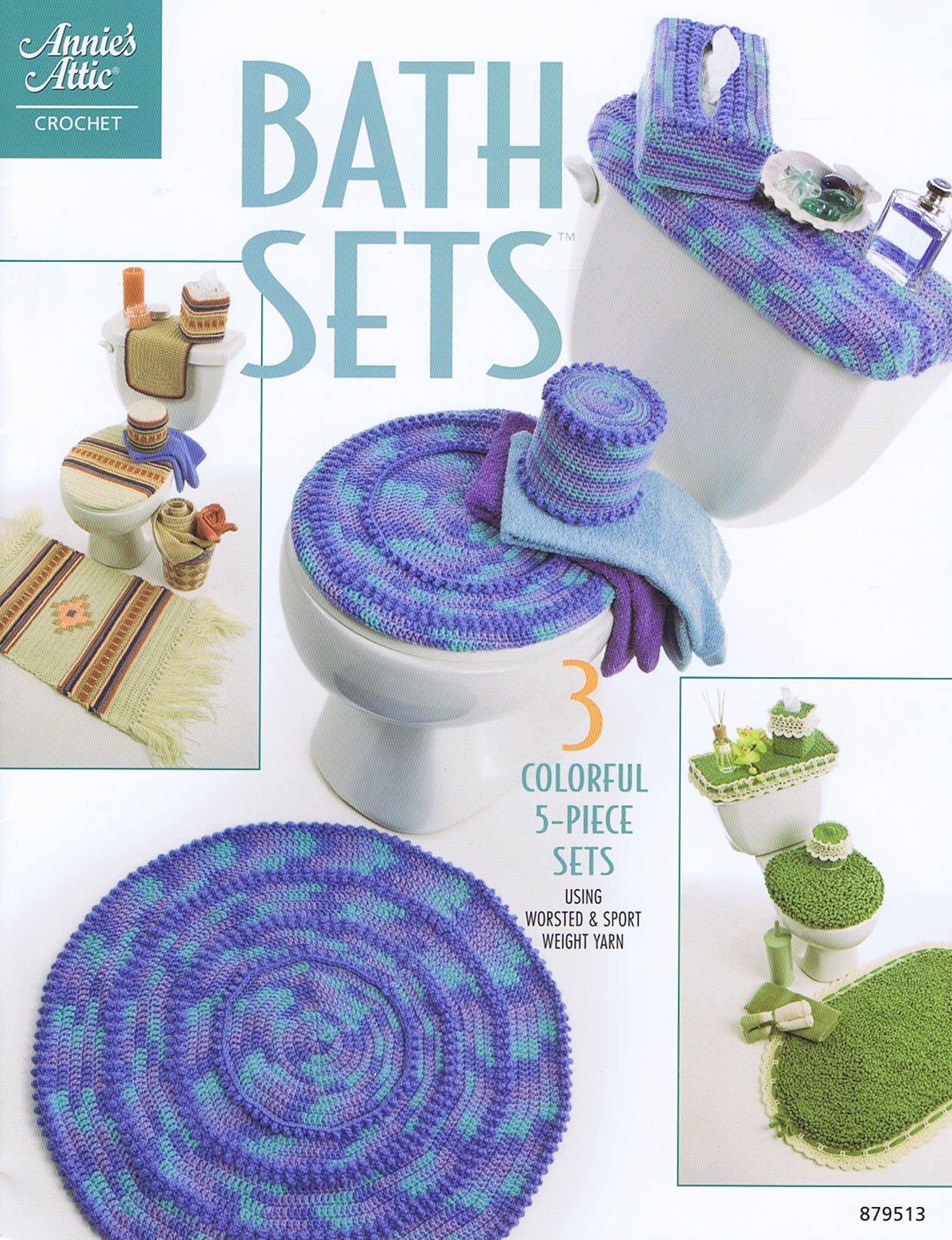 Download Annie's Attic Crochett Bath Sets - 3 Colorful 5-Piece Sets ebook