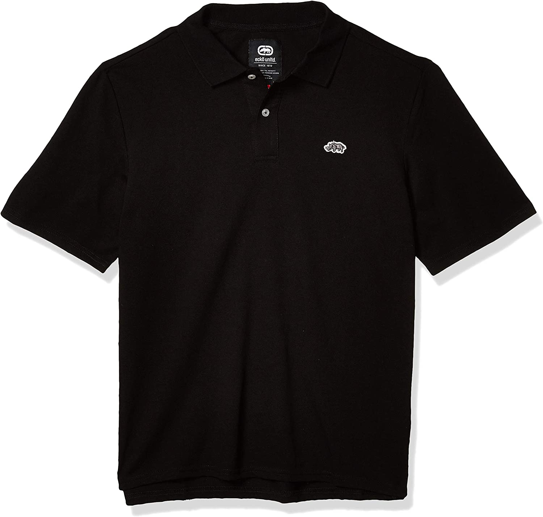 Ecko UNLTD Men's Staple Asap Solid Short Sleeve Polo Shirt