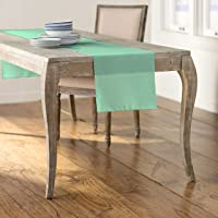LA Linen Polyester Poplin Table Runner, 14 by 108-Inch, Mint
