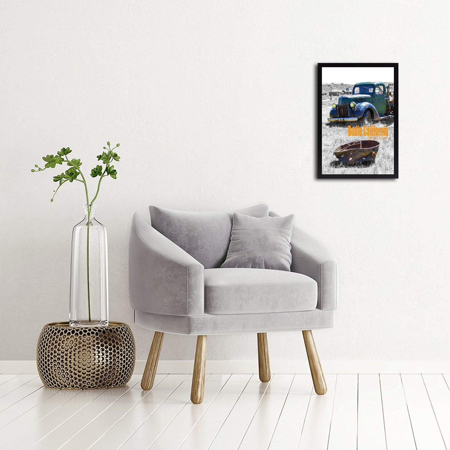 Simple and Stylish Black Swivel Tabs 11x14 Inch Poster Frame Golden State Art Landscape//Portrait