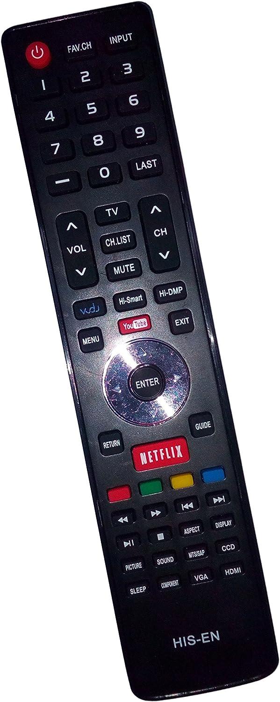Universal Remote Control sustituido en-33922 a para Hisense en33922 a 50 K610gw 32 K366 W 55 K610gw 40 K366 W LED LCD Smart TV con Netflix Vudu: Amazon.es: Electrónica