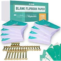 ALISAN Blank Flip Book Paper - 720 Sheets Animation Drawing Flipbook Paper of 160 GSM for Sketching Supplies/Comic Book…