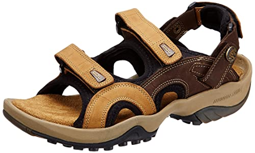 23d201c5c85 Woodland Men s Camel Leather Sandals and Floaters - 11 UK India (45 ...