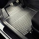 Tapis de sol caoutchouc - Set de 4 tapis de pieds - ajustement parfait - noire - 5902538449038