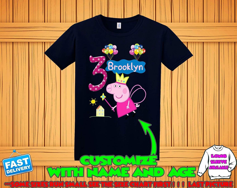 Peppa Pig Birthday Shirt For Girls Custom Personalized Family ShirtsGeorge T Boys