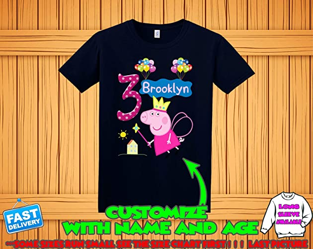 0695ef387 Peppa Pig Birthday Shirt for girls, Peppa Pig Custom Shirt, Personalized  Peppa Pig Shirt, Peppa Pig family shirts,George Birthday t-shirt for boys,  ...