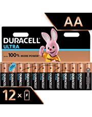 Duracell Ultra AA Alkaline Batteries, Pack of 12, 1.5 Volts LR06 MX1500 (Packaging May Vary)
