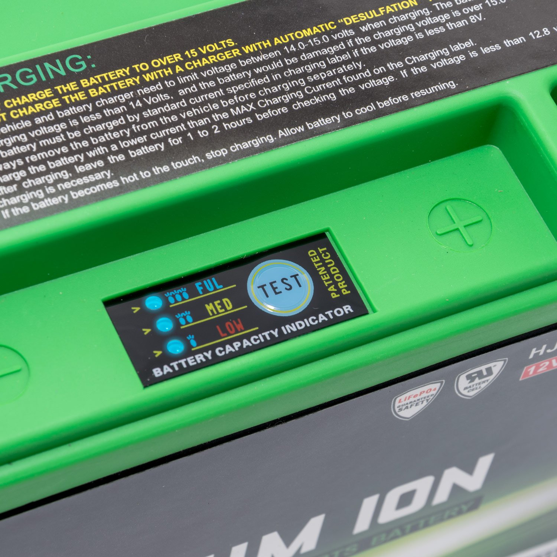 Batterie del motociclo hjb5l FP 12/V 1,58/AH Ioni di Litio skyrich con indicatore