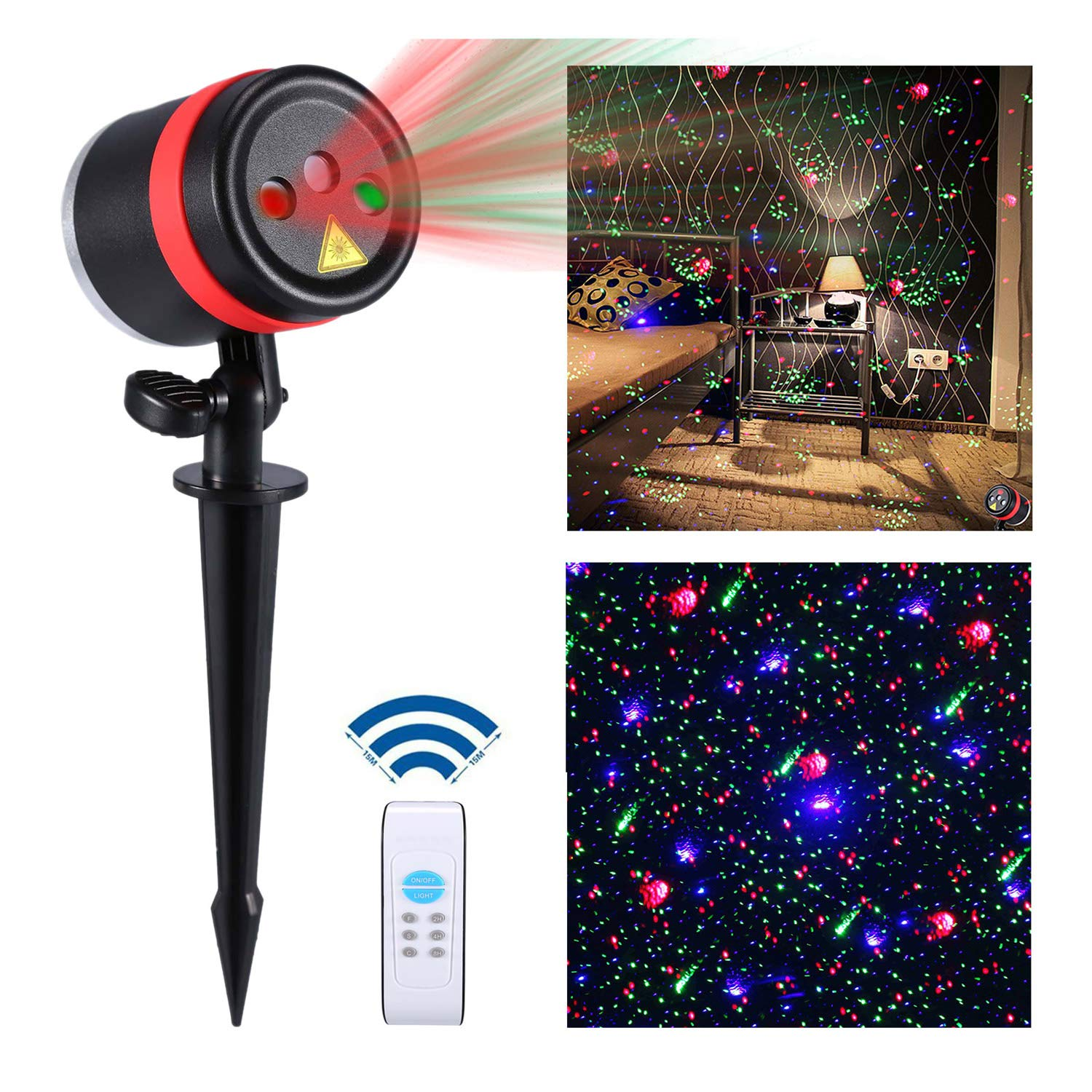 Amazon Lightess Laser Christmas Lights Outdoor Light Projector