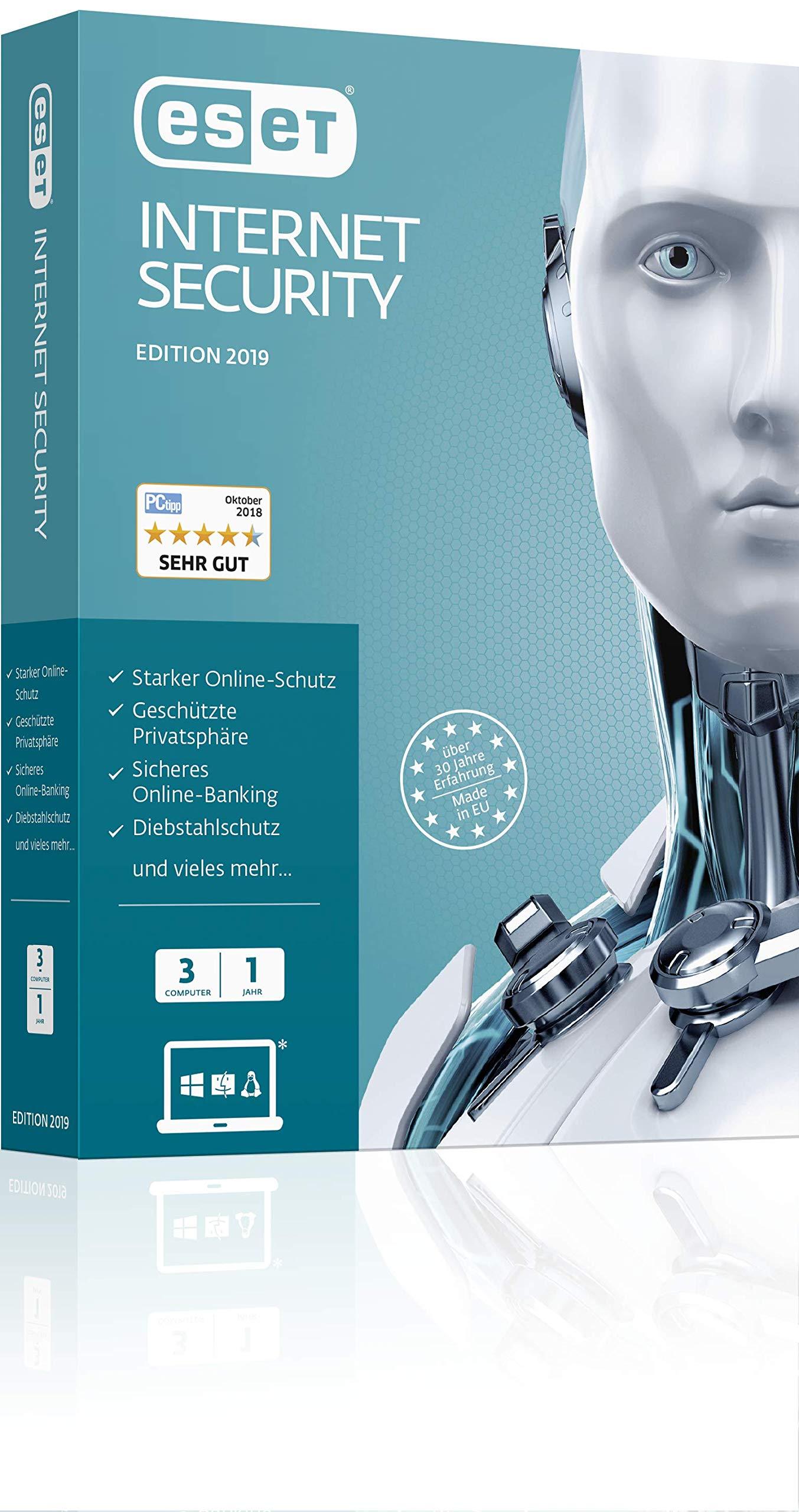 ESET Internet Security 2019 Edition 3 User. Für Windows Vista/7/8/10/MAC/Linux: Amazon.es: Libros en idiomas extranjeros